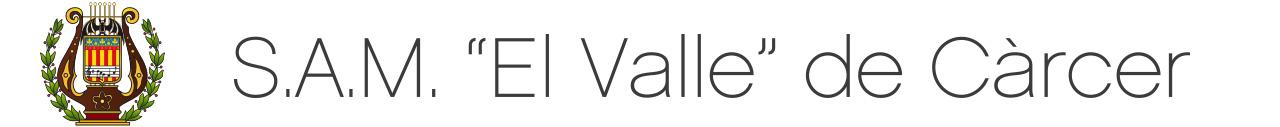 """S.A.M. """"El Valle"""" de Càrcer logo"""